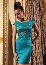 Темное бирюзовое платье