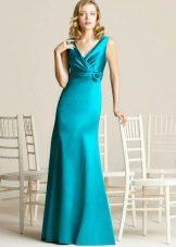 Платье цвета бирюзы