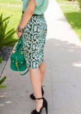 Зеленая сумка к Бирюзовому платью