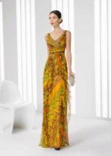 Цветное вечернее платье