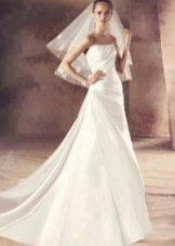 Свадебное платье от Avenue Diagonal а-силуэта