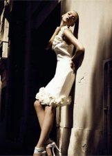 Свадебное платье короткое от Уго Зальди