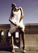 Свадебное платье от Уго Зальди короткое