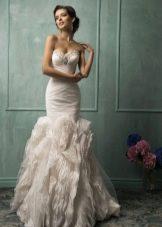 Свадебное платье от Amelia Sposa русалка с пышной юбкой