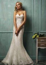 Свадебное платье от Amelia Sposa с жемчугом