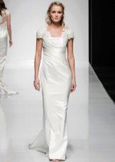 Свадебное платье с объемными плечами