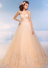 Цветное свадебное платье отРомановой