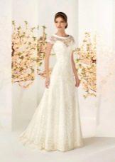 Кремовое свадебное платье от бренда кукла