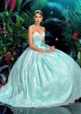 Голубое свадебное платье от бренда кукла