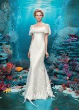 Свадебное платье с приспущенными плечами