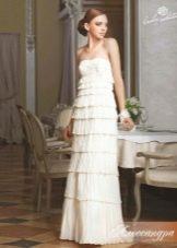 Свадебное платье сливочного оттенка