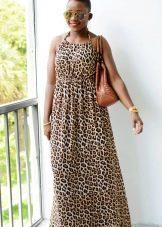 Платье с леопардовым принтом для полных девушек