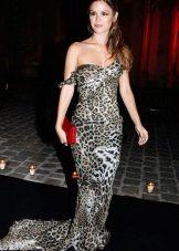 Максимально длинное леопардовое платье