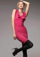 Платье в цвете фуксии розовой