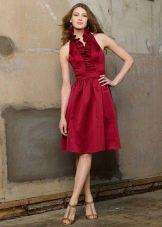 Повседневные платья цвета марсала