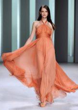 Вечернее платье из шифона летнее