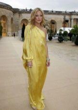 Греческое платье с одним рукавом