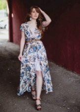 Повседневное платье из шифона