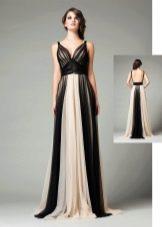 Бело-черное греческое платье