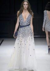 Платье шифоновое с кристаллами