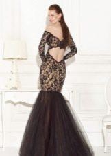 Кружевное платье русалка с шифоном