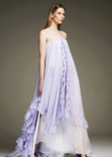 Свободное фиолетовое платье шифоновое