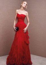 Красное платье от Ла Споса из шифона