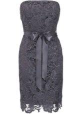 Кружевное платье темно-серого цвета - мокрого асфальта