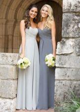 Платья разных оттенков серого