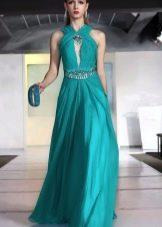 Шелковое платье  а-силуэта