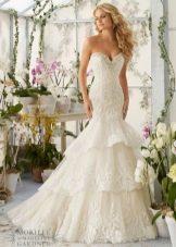 Свадебное платье русалка от бренда Mori Lee