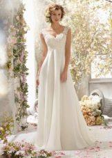 Свадебное платье ампир от Mori Lee