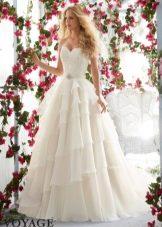 Свадебное платье с корсетом от Mori Lee