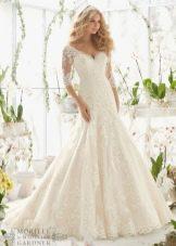 Свадебное платье годе от бренда Mori Lee