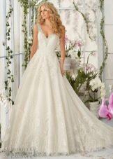 Свадебное платье от бренда Mori Lee пышное