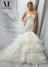 Свадебное платье русалка из коллекции AF Couture от Мори Ли