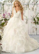 Свадебное платье от бренда Mori Lee многослойное