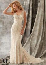 Прямое свадебное платье от Mori Lee