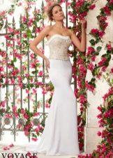 Свадебное платье от бренда Mori Lee с коррсетом