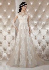 Свадебное платье от Тани Григ кофейное