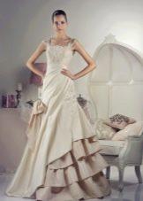 Свадебное платье от Тани Григ с воланами