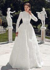 Свадебное платье от Tulipia  закрытое