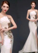 Вечернее платье русалка из Китая