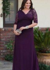 Кружевное платье вечернее для полных