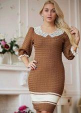 Вязаное платье для полных облегающее