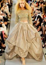 Пышное платье с вязанным лифом
