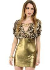 Золотое платье с принтом хищника