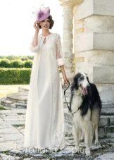 Кружевная накидка к свадебному платью от Татьяны Каплун