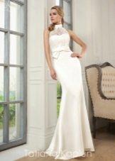 Прямое свадебное платье с вышивкой от Татьяны Каплун