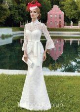 Свадебное платье от Татьяны Каплун из коллекции Lady of quality с длинным рукавом